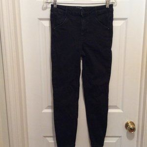 We The Free Jeans 29 Black Cropped Slim High Waist
